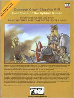 Dungeon Crawl Classics 15: Lost Tomb of the Sphinx Queen