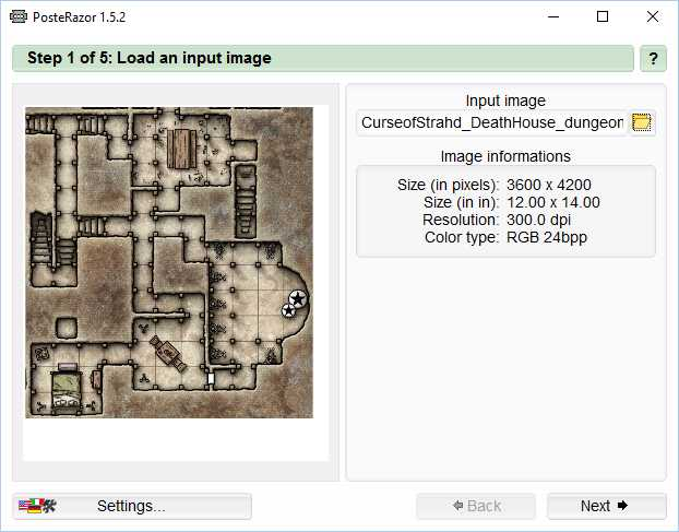 How to print map graphics as battle maps using free software