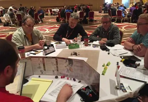 Me in black at the D&D Open—despite our game face, we're having fun