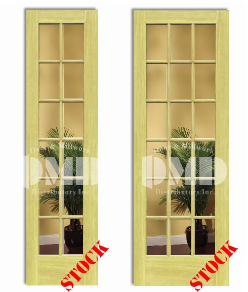 12 18 Lite French Clear Glass Poplar 8 0 96 Door