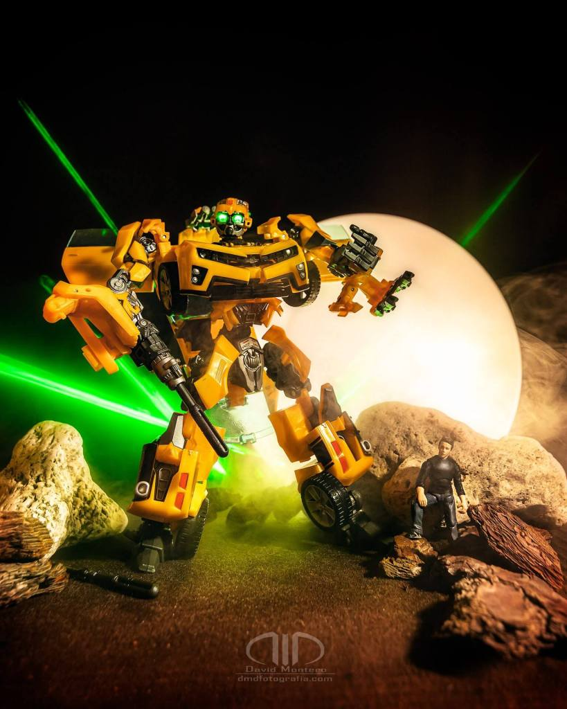 Transformers Bumblebee - Lightpainting DMD Fotografía