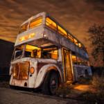 Autobús Noctámbulo - The Knight Bus DMD Fotografía nocturna y lightpainting