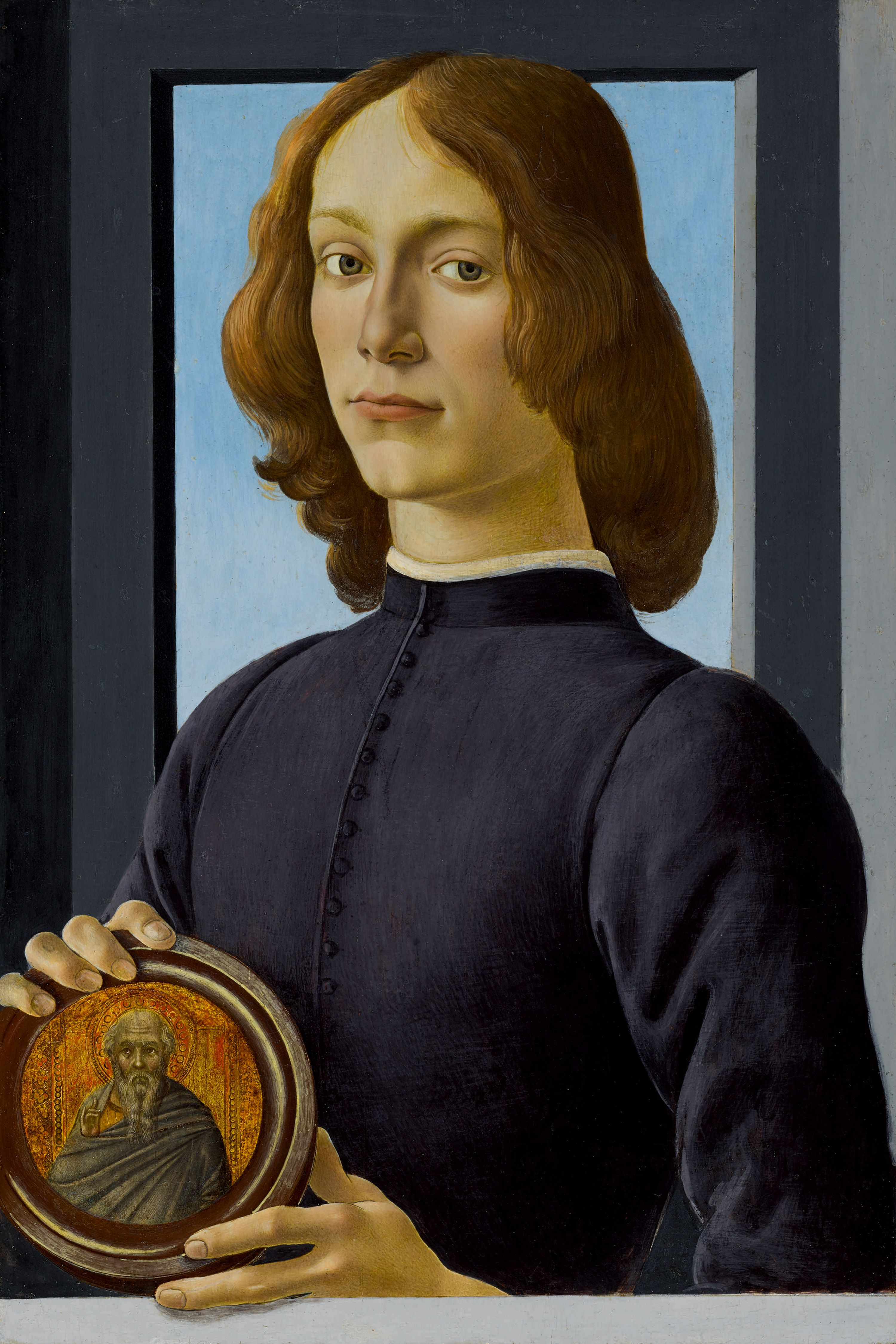 Sandro Botticelli's Young Man Holding a Roundel will be offered for $80m in January as the highlight of Sotheby's Masters Week series of sales in New York.