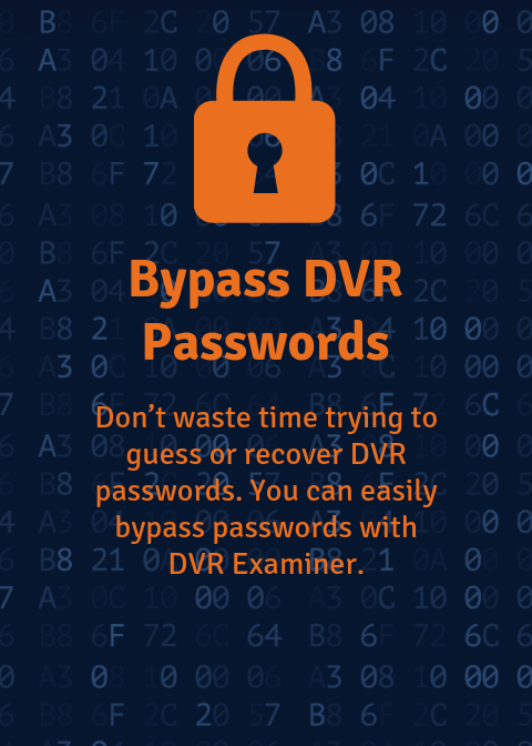 Bypass Passwords: Easily access video data without entering a password.