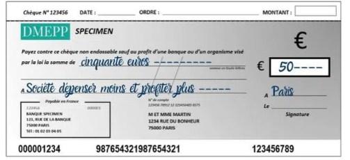 comment faire un chèque lieu