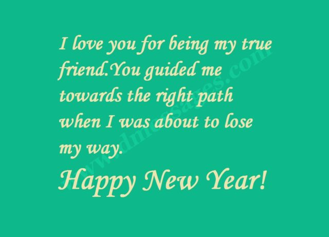New year messages greeting card