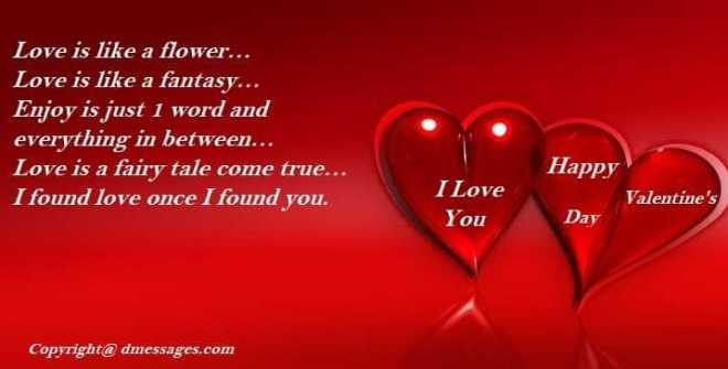 Romantic valentines day wishes for wife