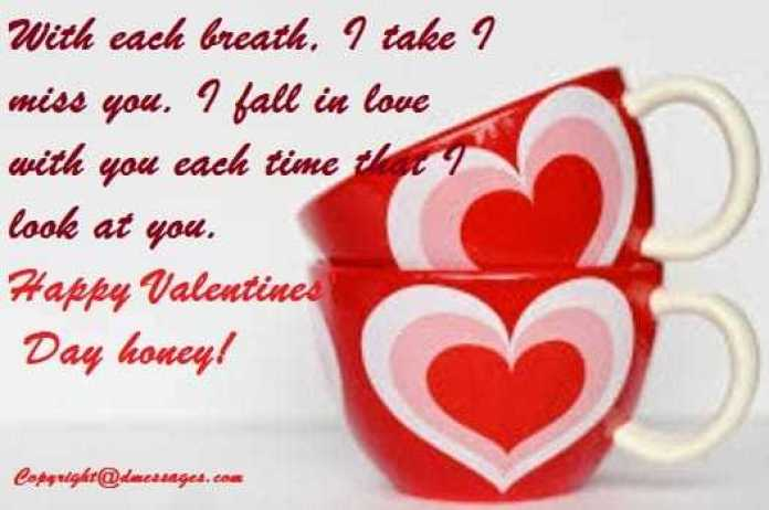 Valentine day sms for wife