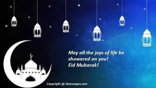 Happy Eid sms text