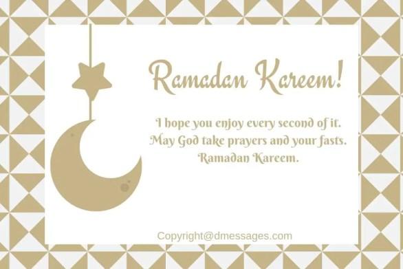happy ramadan text