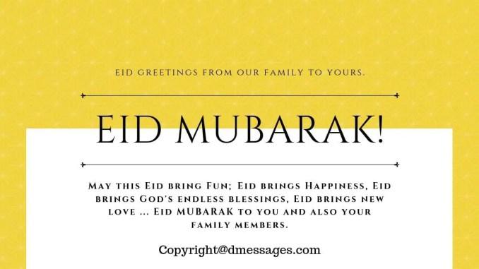 eid mubarak bakrid status