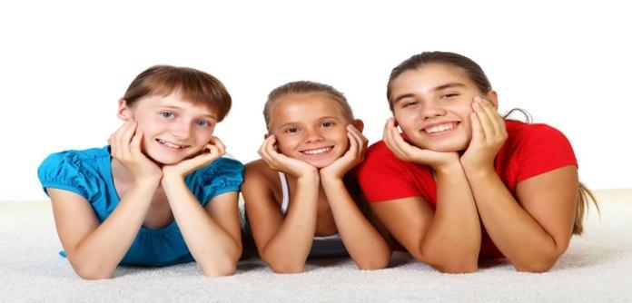 Three teenage girls together