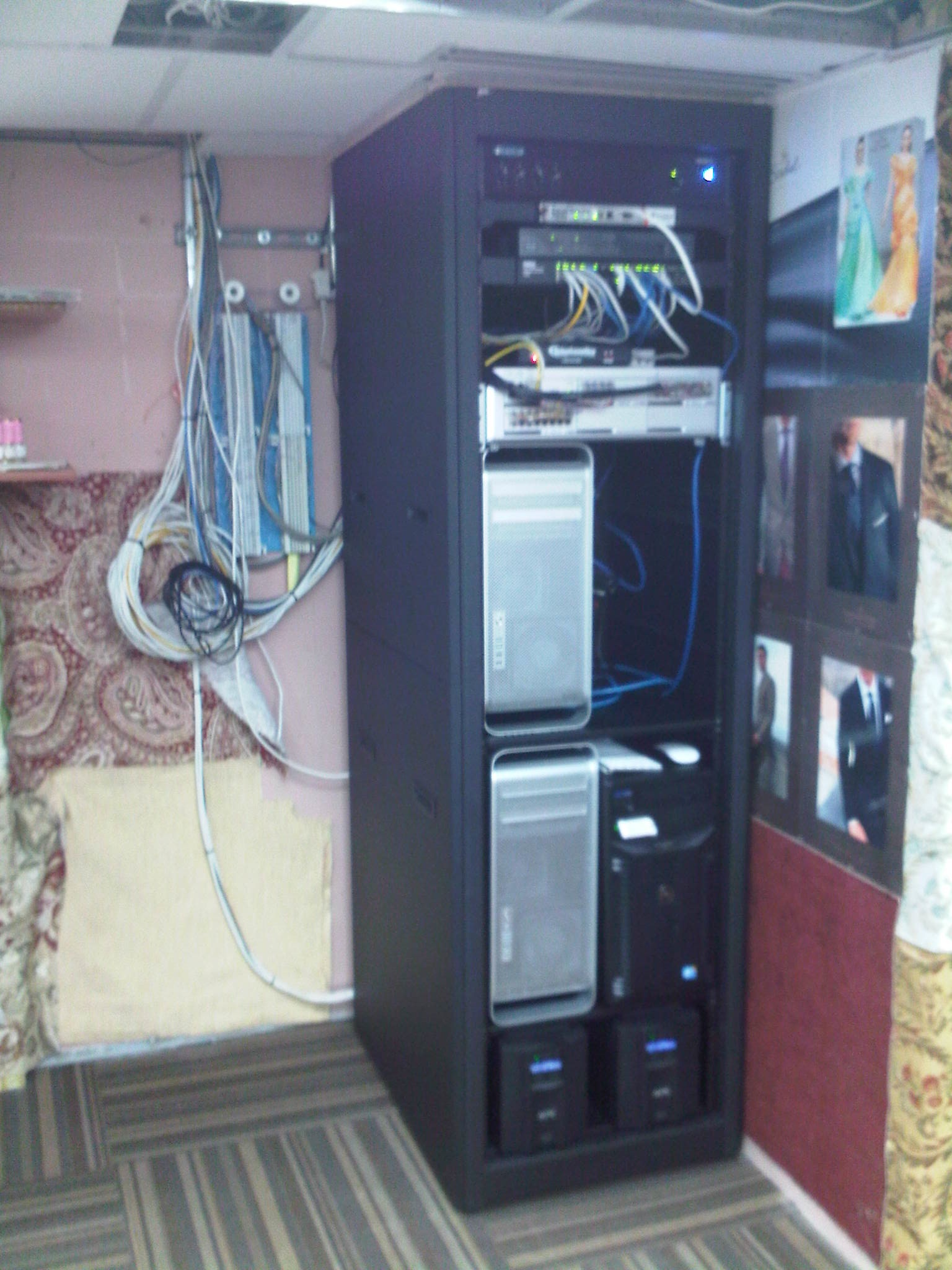 Commercial Audio Visual & Control Equipment Rack installation by dmg Martinez Group in Miami