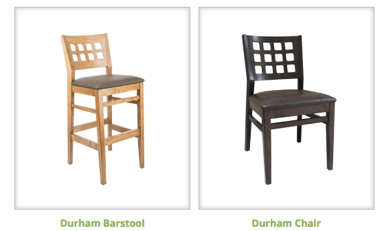 Introducing our newest model to the Holsag family – Durham chair and Durham barstool