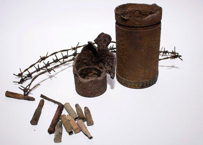 Фрагменти набоїв Першої світової війни