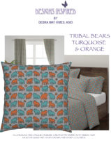 TRIBAL-BEARS-TURQUOISE-&-ORANGE