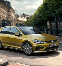 the 2019 volkswagen golf will gain power and a new aerodynamic body carbuzz [ 1600 x 1200 Pixel ]