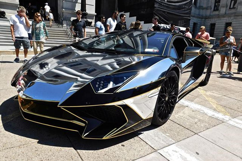 Is This Chromewrapped Lamborghini Aventador Sv The