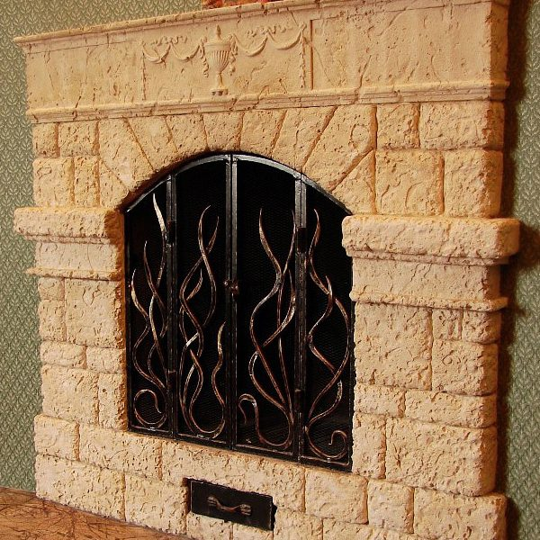 Fireplace commission sculpture