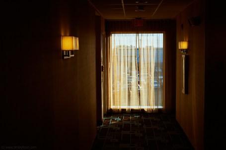 Hotel hallway, Delaware, USA