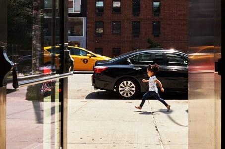 Running girl, NYC