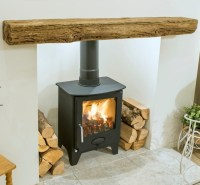 Newman Fireplace Bideford Oak Effect Stone Beam | Newman ...