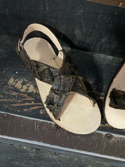 Men's Traditional Mexican Genuine Fish Leather Cruzado Sandals Made USA