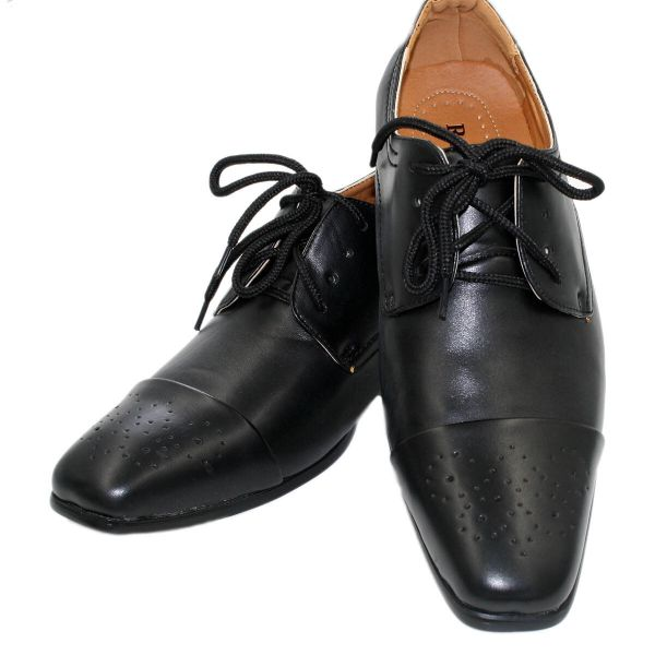 Men's Brand New Leather Slip on Dress Black Shoes Style Brad Black