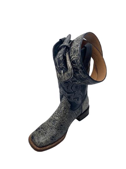 Men Turtle Print Cowboy Boots