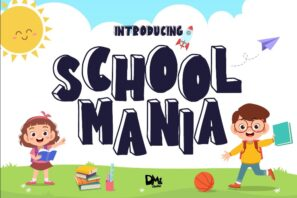 School Mania - Block Crafty Font