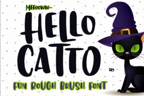 Hello Catto - Fun Rough Brush Font