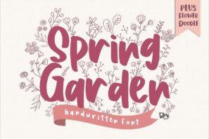 Spring Garden - Beautiful Handwritten Font