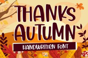 Thanks Autumn - Handwritten Font