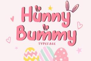 Hunny Bummy - Easter Bunny Font