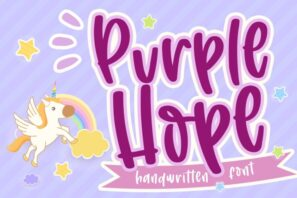Purple Hope - Handwritten Font