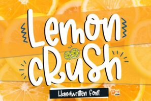 Lemon Crush - Handwritten Font