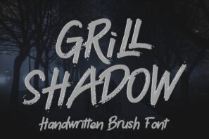 Grill Shadow - Brush Font