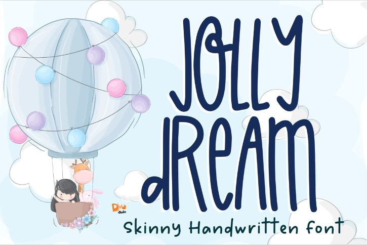 Preview image of Jolly Dream – Skinny Handwritten Font
