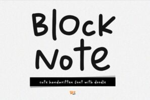 Block Note - Handwritten Font with Doodle
