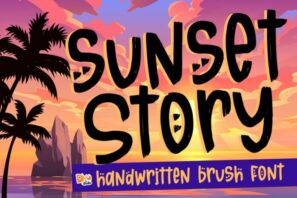Sunset Story - Handwritten Font