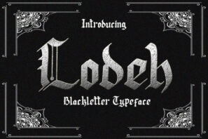 Lodeh - Black Letter Typeface