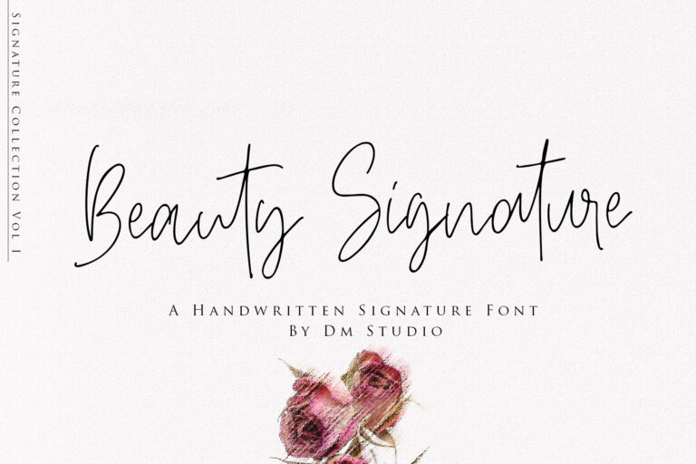 Preview image of Beauty Signature – Handwritten Font