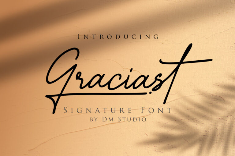 Preview image of Graciast – Signature Font