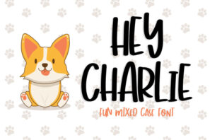 Hey Charlie - Fun Mixed Case Font
