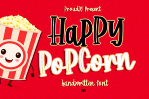 Happy Popcorn - Handwritten Font