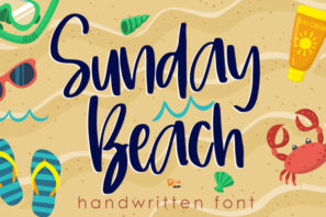 Sunday Beach - Handwritten Font