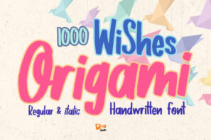 1000 Wishes Origami - Handwritting Font