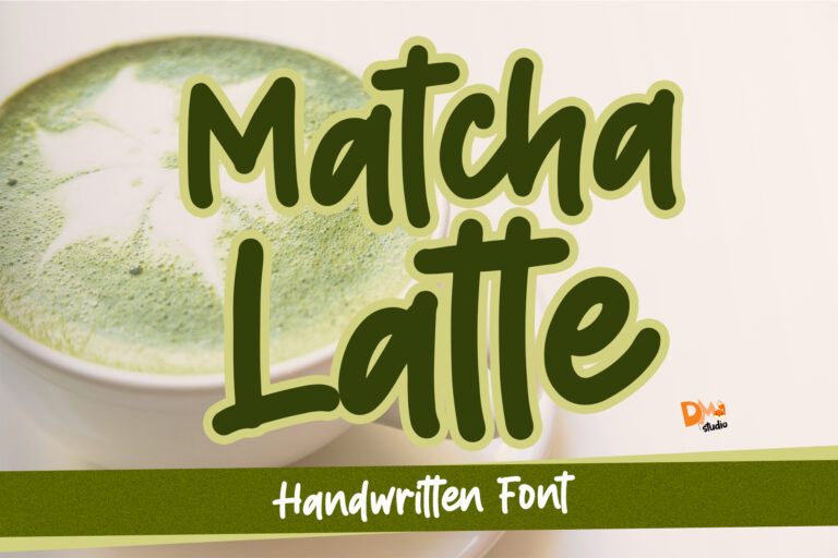 Preview image of Matcha Latte – Handwritten Font
