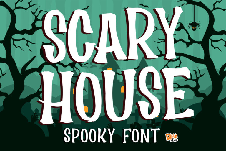 Preview image of Scary House – Spooky Font