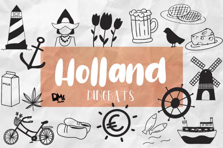 Preview image of Holland Dingbats Font – Plus EXTRA